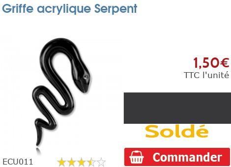 Griffe acrylique Serpent