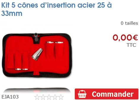 Kit 5 cônes d'insertion acier 25 à 33mm