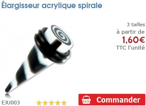 Élargisseur acrylique spirale