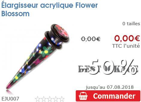 Elargisseur acrylique Flower Blossom