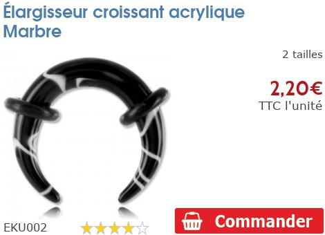 Croissant acrylique Marbre
