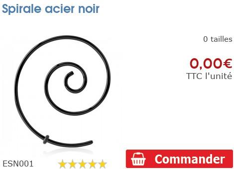 Spirale acier noir
