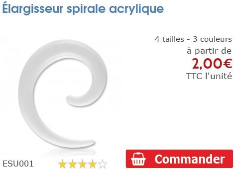 Élargisseur spirale acrylique