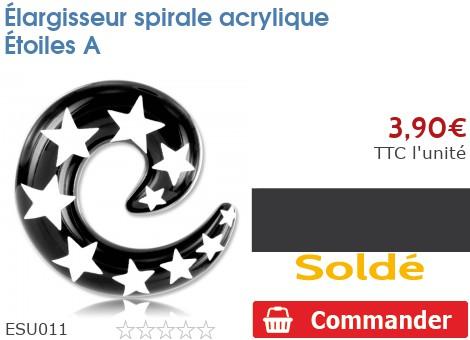 Élargisseur spirale acrylique Étoiles A
