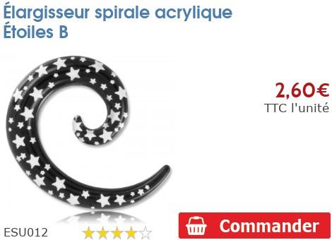 Élargisseur spirale acrylique Étoiles B