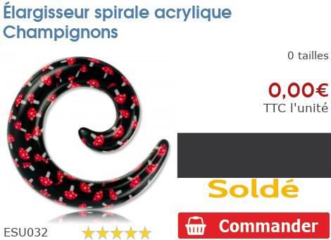 Élargisseur spirale acrylique Champignons