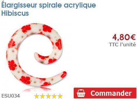 Élargisseur spirale acrylique Hibiscus
