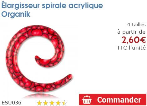 Élargisseur spirale acrylique Organik