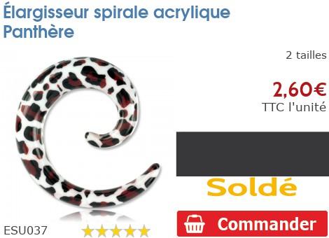 Élargisseur spirale acrylique Panthère