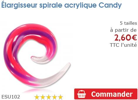Elargisseur spirale acrylique Candy