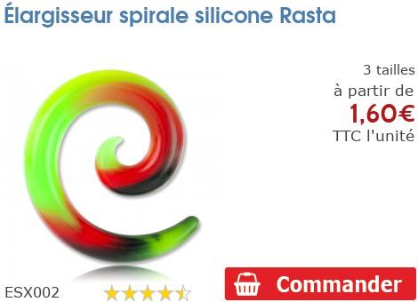 Élargisseur spirale silicone Rasta