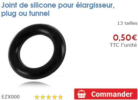 Joint de silicone pour élargisseur, plug ou tunnel