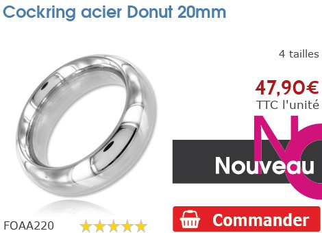 Cockring anneau à pénis acier Donut 20mm