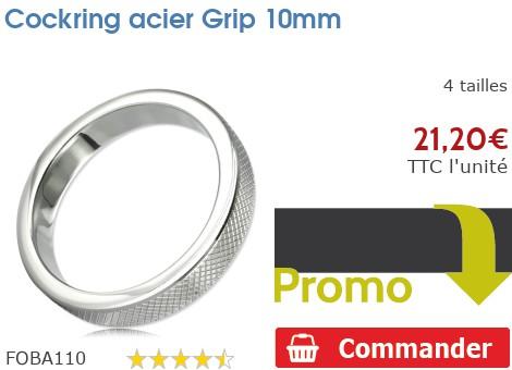 Cockring anneau à pénis acier Grip 10mm