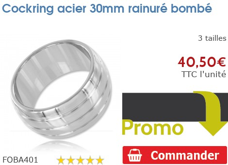 Cockring anneau à pénis 30mm rainuré bombé