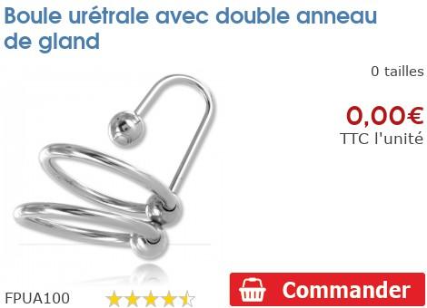 Boule ur trale avec double anneau de gland fpua100 - Anneau de gland ...