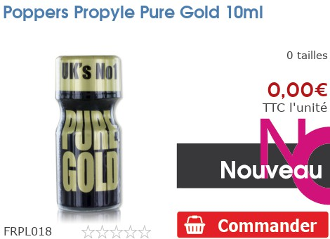 Poppers anglais Pure Gold 10ml