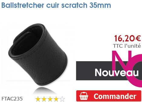 Ballstretcher cuir Velcro 35mm