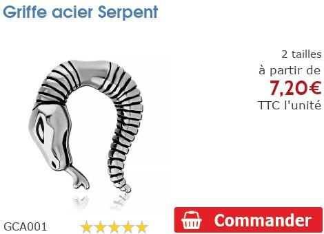 Griffe acier Serpent