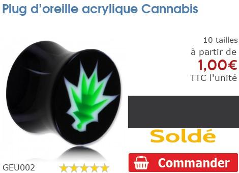 Plug acrylique Cannabis