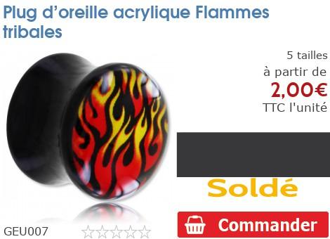 Plug acrylique Flammes tribales