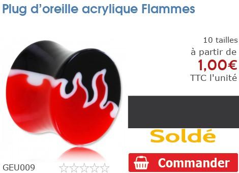 Plug acrylique Flammes