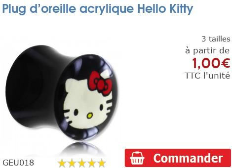 Plug acrylique Hello Kitty
