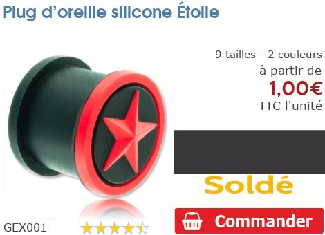 Plug épaulé silicone Étoile