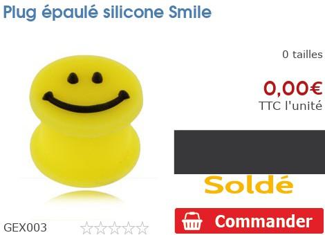 Plug épaulé silicone Smiley