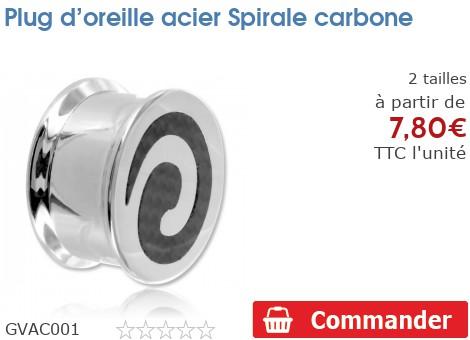 Plug vissable acier Spirale fibre de carbone