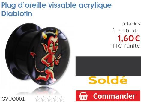 Plug vissable acrylique Diablotin