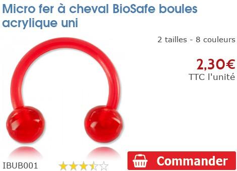 Micro fer à cheval BioSafe boules acrylique unies