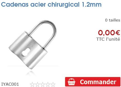 Cadenas acier chirurgical 1.2mm