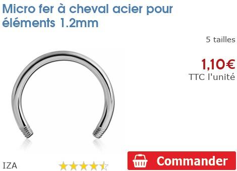 Micro fer à cheval acier pour éléments 1.2mm