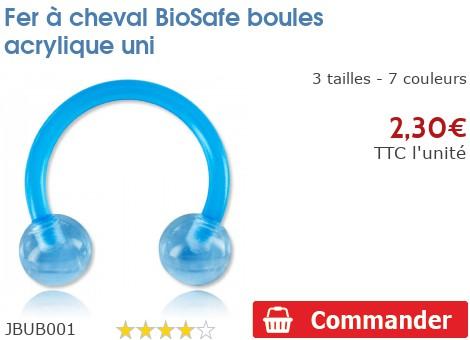 Fer à cheval BioSafe boules acrylique unies