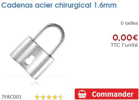 Cadenas acier chirurgical 1.6mm