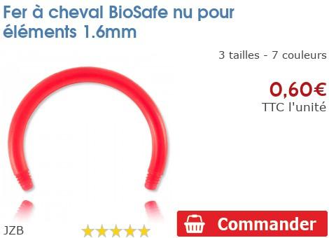 Fer à cheval BioSafe nu pour éléments 1.6mm