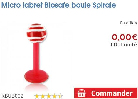 Micro labret Biosafe boule Spirale