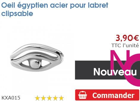 Oeil égyptien acier pour labret clipsable