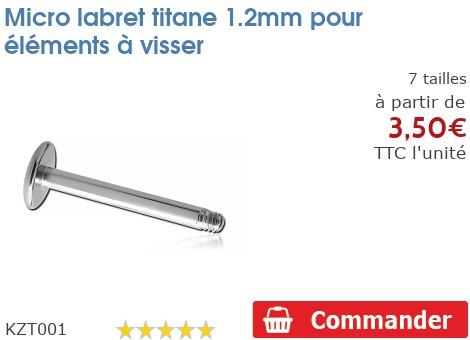 Micro labret titane 1.2mm nu