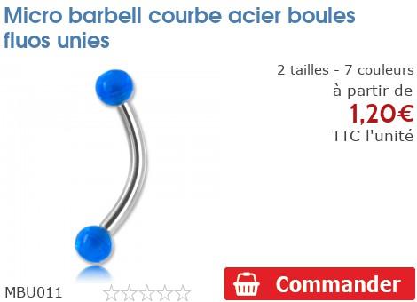 Micro barbell arcade boules fluos unies