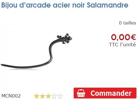 Bijou d'arcade acier noir Salamandre