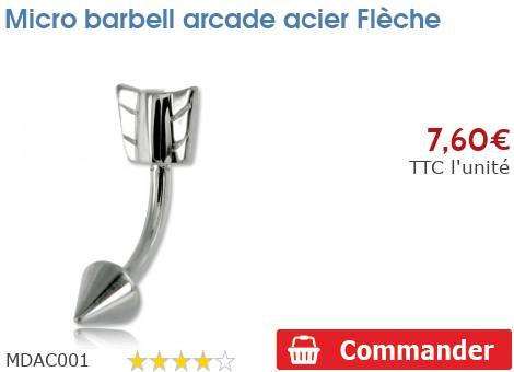 Micro barbell arcade acier Flèche