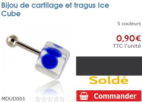 Bijou de cartilage et tragus Ice Cube