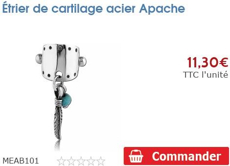 Étrier de cartilage acier Apache
