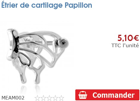 Etrier de cartilage Papillon