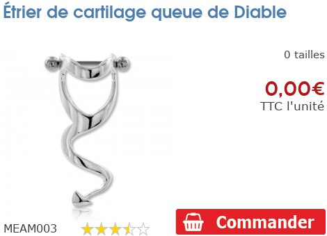 Etrier de cartilage Queue de diable