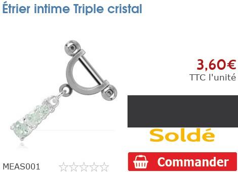Étrier intime Triple cristal