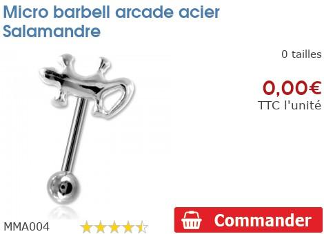 Micro barbell arcade acier Salamandre