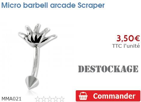 Micro barbell arcade Scraper